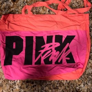 Pink Brand Canvas Tote